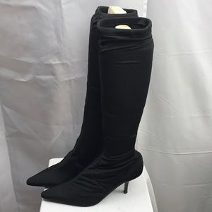 Pazzo Spandex Shaft Boots Black Sz.6.5